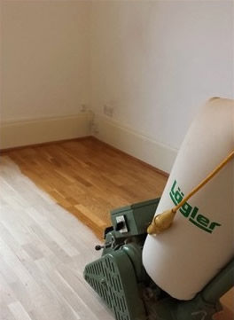 Engineered oak floor sanding in Surbiton
