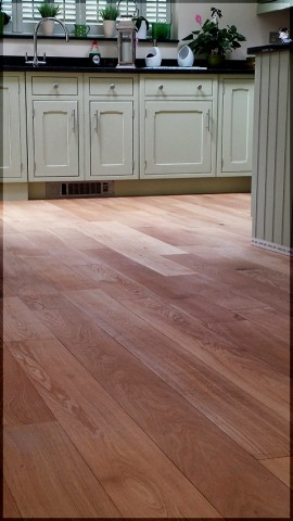 Hardwood oak flooring sanded and oiled by Osmo Rapid