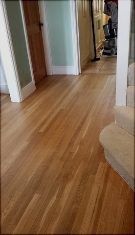 Canadian solid oak floor sanding in Surbiton