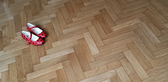 Hardwood floor sanding in Esher