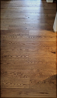 Staining wood floor finishes